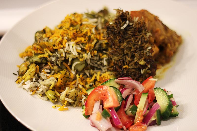 baghali polo cocina iraní