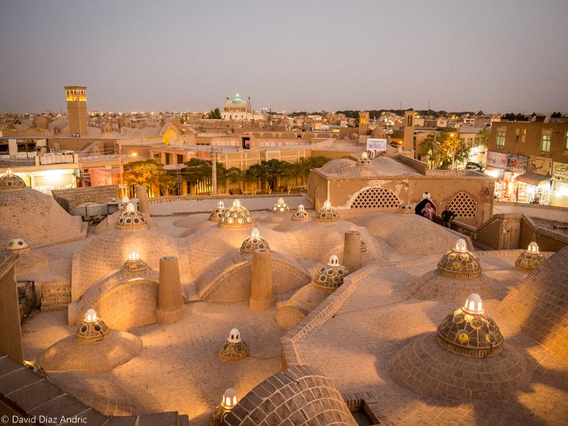 Visitar Kashan-Tejado de los Baños del Sultan Amir Ahmad (Kashan, Iran)