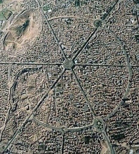 Vista aérea de la ciudad de Hamadán
